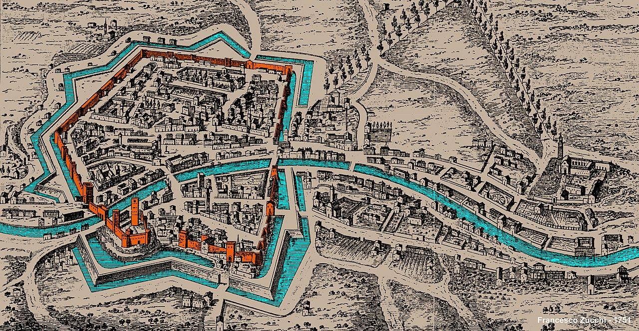 Cartina Dell Italia Rovigo.Fortificazioni Medievali Di Rovigo Wikiwand
