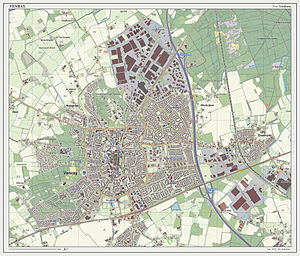 Venray - Dutch topographic map of Venray (town), Dec. 2013