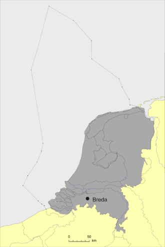 Breda Formation - Image: Verbreiding Breda Formatie 150dpi