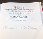Herta Müller: subscriptio