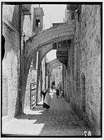 Via Dolorosa, beginning at St. Stephen's Gate. Fifth Station of the Cross LOC matpc.00024.jpg