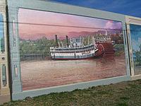 Vicksburg Riverfront Sprague mural Dafford Murals