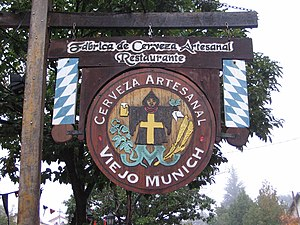 Villa General Belgrano - Typical wooden signage