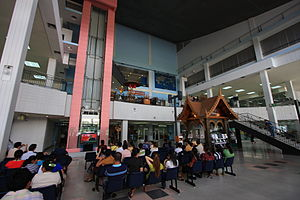 Transport in Laos - The interior of Wattay Airport in Vientiane.