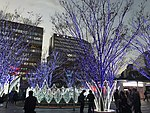 View in front of Hakata Station at dusk 20181214-2.jpg