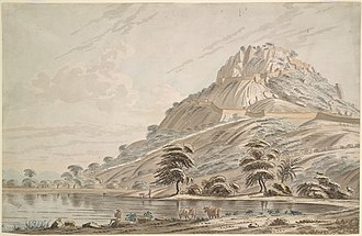 Anchettidurgam - Image: View of Anchittidrug (Mysore). Between 1790 and 1792