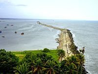 View of Kollam Port from Lighthouse.jpg