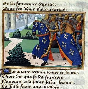 "Thomas Rempston (died 1458) - Siege of Tartas (1440/41–1442), from ""Vigiles du roi Charles VII"""