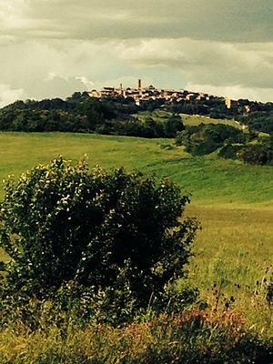 Radicondoli - Village of Radicondoli on a hilltop, May 2014
