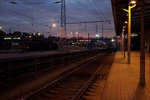 Transport in Lithuania - Railway station in Vilnius