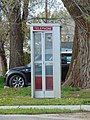 Vintage telephone booth in Heber City, Utah, Apr 16.jpg