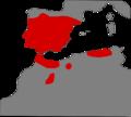 Vipera latastei range Map.png