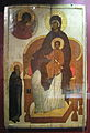 Virgin enthroned with Sergius of Radonezh (15 c., GIM) 2.jpg