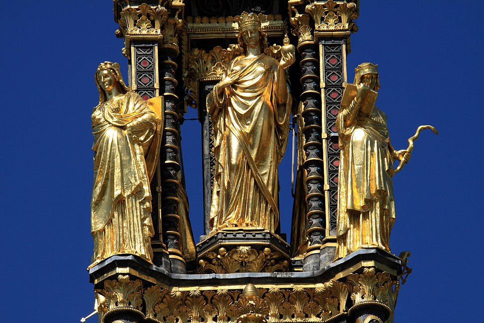 Virtues of the Albert Memorial in London, spring 2013