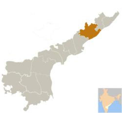 Location of Visakhapatnam district in Andhra Pradesh