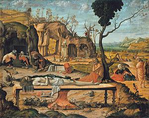1505 in art - Image: Vittore Carpaccio Preparation of Christ's Tomb Google Art Project
