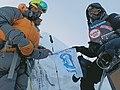 Vladimir Pavlov (right) and Sebastian Trudel (left) on the summit of Manaslu 8163m. on 26. September 2019.jpg