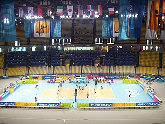 Peace and Friendship Stadium - 13,200 seat configuration during the 2004 Athens Summer Olympics Volleyball Tournament.