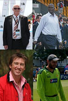 Montage showing the pictures of Dennis Lillee, Joel Garner, Shahid Afirid and Glenn McGgrath
