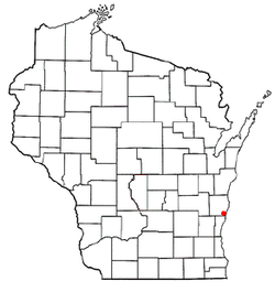 Location of Cedar Grove, Wisconsin