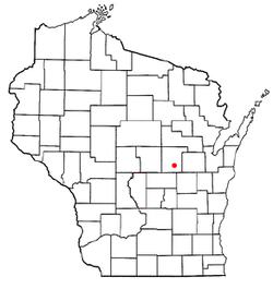 Vị trí trong Quận Waupaca, Wisconsin