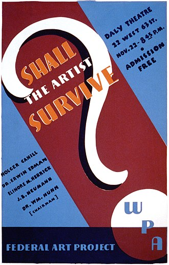 """Holger Cahill - Cahill opened the first of 12 forums on the economic status of artists in the U.S., """"Shall the Artist Survive?"""" (November 22, 1936)"""