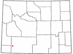 Location of Little America, Wyoming