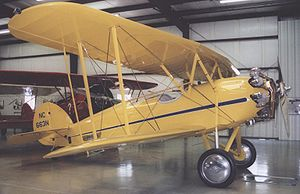 Waco 10 - Waco ATO Taperwing of 1930 at the Historic Aircraft Restoration Museum near St Louis in June 2006.