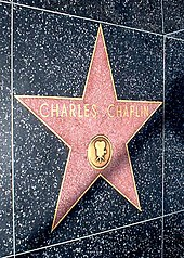 Photograph of Charlie Chaplin's star on the Walk of Fame