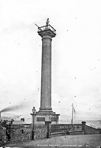 George Walker (soldier) - The former Walker's Monument, which stood from 1828-1973