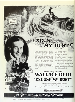 Excuse My Dust (1920 film) - Ad for the film