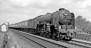 LNER Thompson Class A1/1 - The single Thompson A1/1 Pacific 60113 Great Northern near Peterborough in 1959