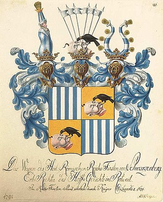 Coats of arms of the Holy Roman Empire - Image: Wappen der Fürsten von Schwarzenberg 1792