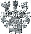 Wappen der Grafen von Gaschin, Freiherren von und zu Rosenberg 1663.png