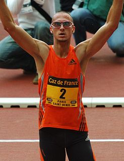 American track athlete