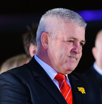 Warren Gatland Wales coach at the Wales Grand Slam Celebration, Senedd 19 March 2012.png