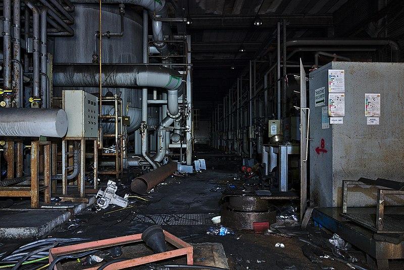 File:Water treatment plant of an abandoned steel factory in Oupeye, Belgium (DSCF3290).jpg