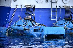 Pump-jet - Two of four KaMeWa waterjets on the high-speed ferry ''Discovery''