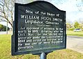 Wedowee Alabama Governor William Hugh Smith Historic Marker.JPG