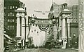 Welcome Arch for the Alaska Yukon Pacific Exposition on 2nd Ave and Marion St, Seattle, 1909 (AYP 1314).jpg