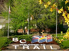 Trail BC welcome sign