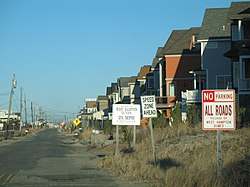 New houses on the ocean in West Hampton Dunes