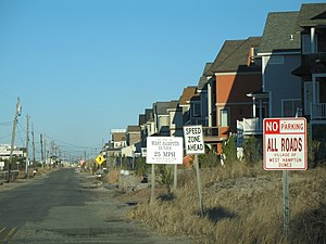 West Hampton Dunes, New York - New houses on the ocean in West Hampton Dunes