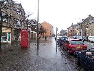 West Calder town in West Lothian, Scotland