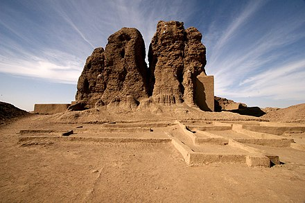 The large mud brick temple, known as the Western Deffufa, in the ancient city of Kerma Western Deffufa - Kerma.jpg