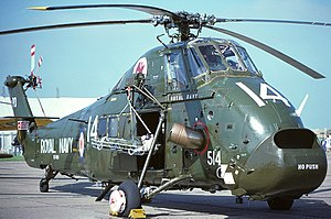 772 Naval Air Squadron - A Westland Wessex HU.5 of 772 NAS at RNAS Yeovilton during 1978.