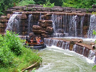White Water Canyon is a river rapids ride located in Frontier Canada. White Water Canyon - Canadas Wonderland.jpg