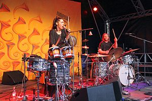 Wildbirds & Peacedrums - Image: Wildbirds & Peacedrums Rudolstadt 03
