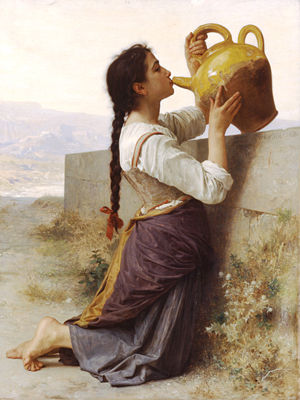Thirst - William-Adolphe Bouguereau's Thirst (1886)