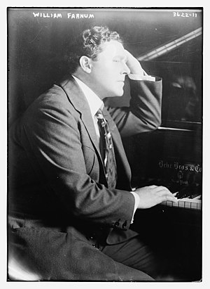 William Farnum - William Farnum at a piano in 1915